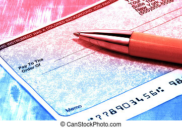 Blank Check 2 - Blank Check and Pen With Color Tinting and...