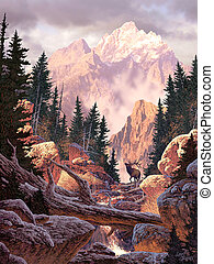 Elk - Image from an original painting by Larry Jacobsen...