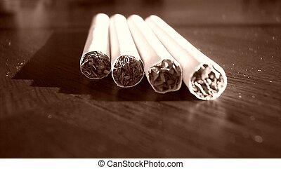 4 cigarettes