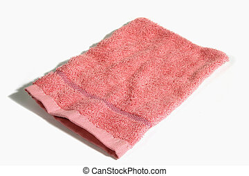 Wash Cloth - Towel wash cloth isolated on white