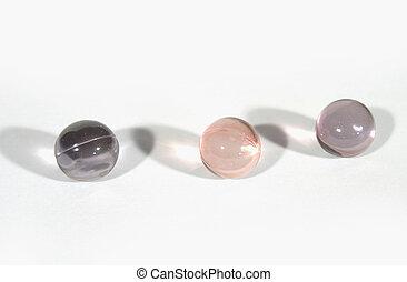 Bath Oil Beads - Isolated bath oil beads