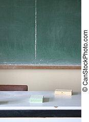 Desk & blackboard