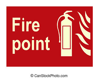 Fire sign - Fire point sign