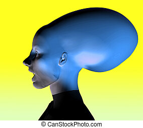 Alien - This is an alien which I created using a 3D...