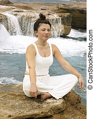 Take me to another place - Inner sanctuary Woman meditating...