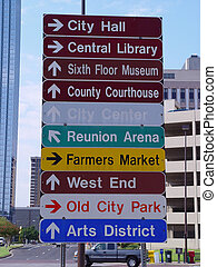 Street Sign - downtown Dallas street sign