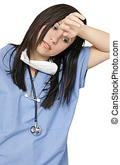 Weary healthcare professional - Weary, sick, tired,...