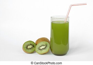 Kiwi Juice - Kiwi juice on white background