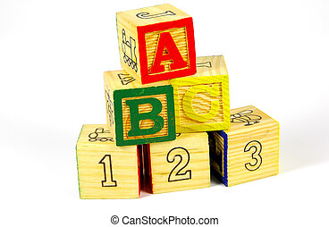Wooden Toy Blocks - Wooden Toy Letter and Number Blocks