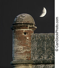 Spanish Tower - south tower at Ft Castil de San St Augustine...