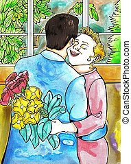 Couple - floral gift