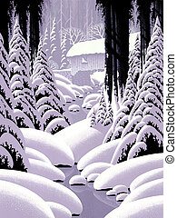 Covered Bridge - Image from an original painting by Larry...