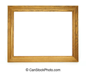 Blank Picture Frame - Oak picture frame white background