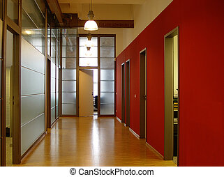 corridor - inside an office