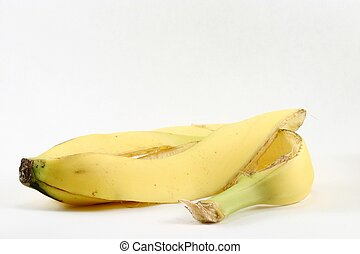 Banana Peel - A discarded banana peel, isolated.