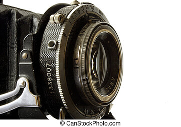 lens and shutter - antique camera shutter