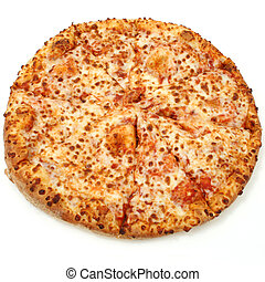 Cheese Pizza on White Background - High Resolution cheese...