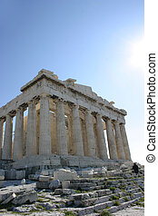 Parthenon temple in Acropolis, Athens.