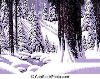 Forest Snow Scene