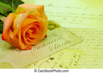 Love Letters - Rose and Letters.