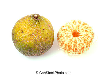 Ugli Fruit - A cross between a mandarin orange and a pomelo...