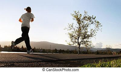 morgon, springa