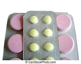 Pink yellow pills - Pink and yellow pills