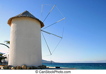 Cycladic windmill - Cycladic type windmill by the sea.
