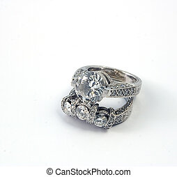 6 Carats of Bling - 6 carats of diamonds, wedding band and...