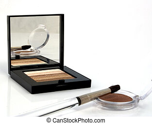 Brushed - Cosmetic eye makeup and brush