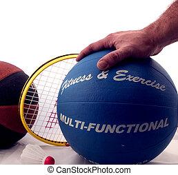 Health & Fitness - Medicine Ball Badminton and Basketball