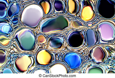 Gems abstract - abstract gems bubbles
