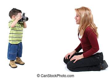 Baby Photographer - Little photographer photographing a...