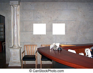em branco, parede