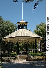 Gazebo in park at Bathurst, Australia