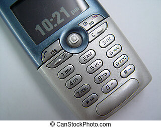 Cel 1 - top shot of a cellphone with its keypad details
