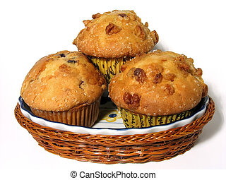 Muffins - Blueberry and banana nut muffins