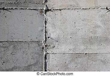 Concrete texture - Metal sheet tile formwork stamped on a...