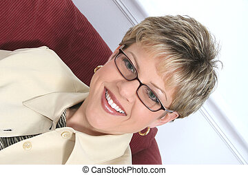 Woman in Glasses - Portrait of a successful business woman...