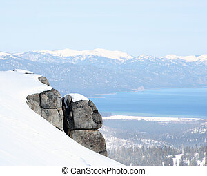 From the top - View at Lake Tahoe, California from the...