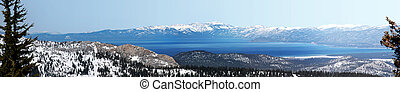 Lake Tahoe - View at Lake Tahoe, California from the...