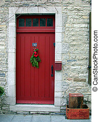 Red Door at Christmas, France