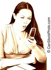 Woman in Sepia Tone