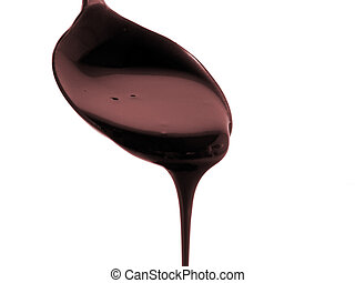 Chocolate Syrup - Chocolate sypup dripping from spoon