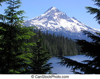 Mount Hood from Lake - Mount hood in front or mountain lake