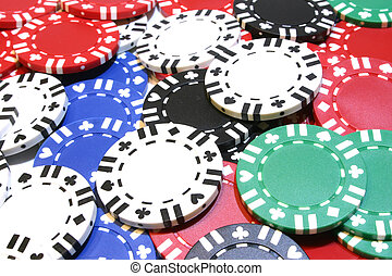 Poker Chip Backgroun - A background of scattered poker chips