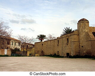 The yard - The front yard of an old mosque in Nicosia,...