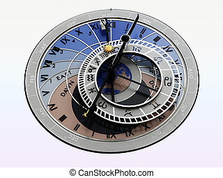 Astrological Clock - astrological clock from the tower in...
