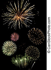 Fireworks composite - A dramtic graphic of several fireworks...