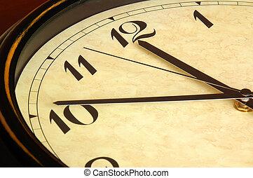 Clock - Close up of Antique Clock